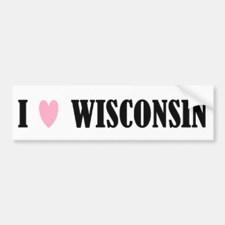 I LOVE WISCONSIN BUMPER STICKER