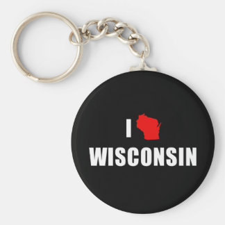 I Love Wisconsin Key Ring
