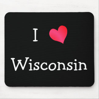 I Love Wisconsin Mouse Mat