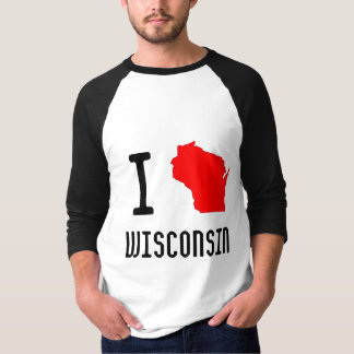 I Love Wisconsin T-Shirt