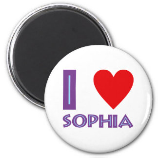 I love wisdom philosophy I love sophia 6 Cm Round Magnet
