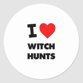 I love Witch Hunts Stickers