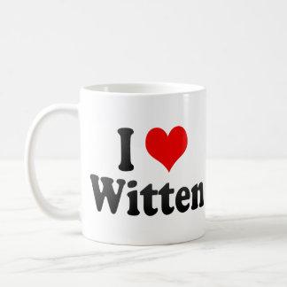 I Love Witten, Germany Basic White Mug