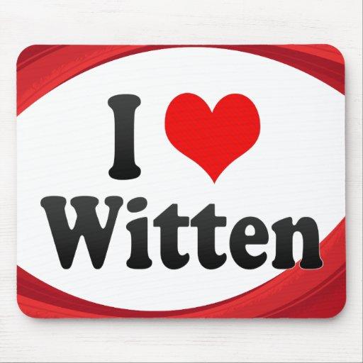 I Love Witten, Germany Mousepad