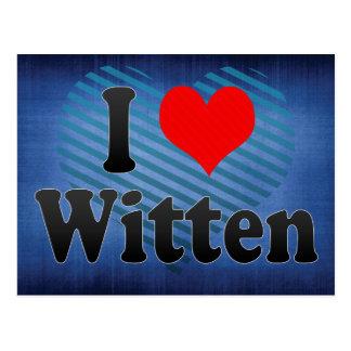 I Love Witten, Germany Postcard