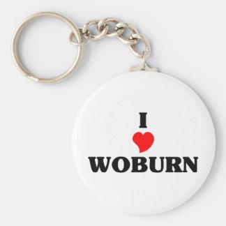I love Woburn Basic Round Button Key Ring