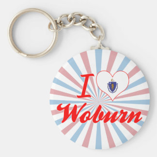 I Love Woburn Massachusetts Keychain