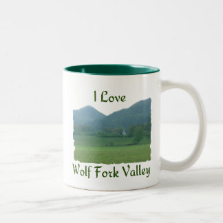 I Love Wolf Fork Valley Two-Tone Coffee Mug
