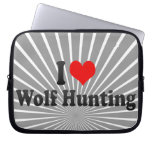 I love Wolf Hunting Laptop Computer Sleeves