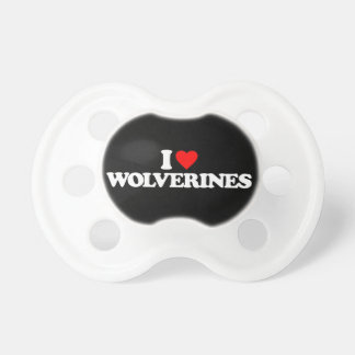 I LOVE WOLVERINES PACIFIER