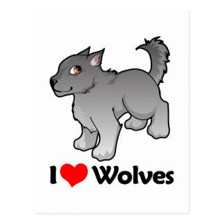 I Love Wolves Postcard