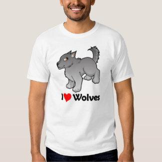 I Love Wolves Shirts