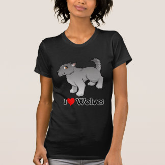 I Love Wolves T Shirts