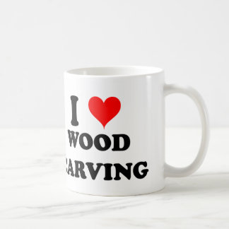 I Love Wood Carving Coffee Mug