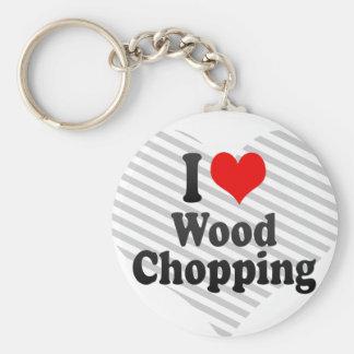 I love Wood Chopping Keychain