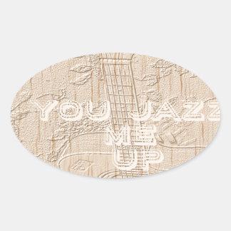 I love wood going brown Hakuna Matata Oval Sticker