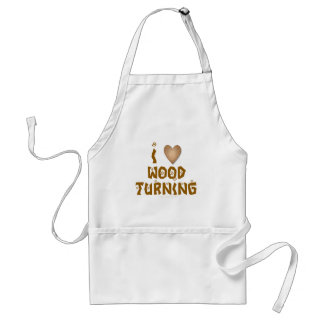 I Love Wood Turning Wooden Heart Standard Apron