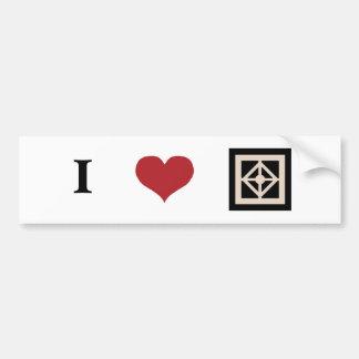 I Love Woodstock (bumper sticker) Car Bumper Sticker