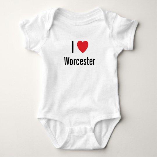 I love Worcester Baby Jumper Baby Bodysuit