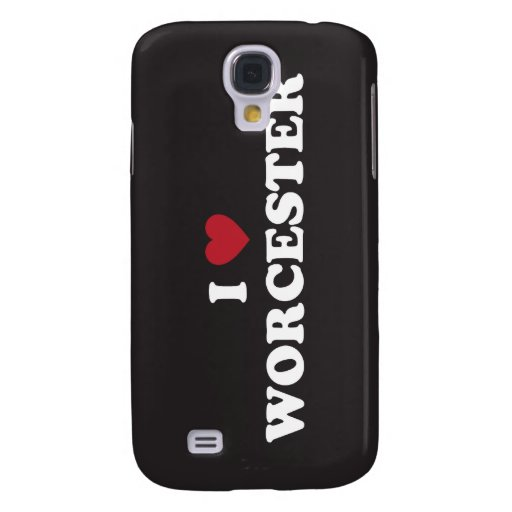 I Love Worcester Massachusetts Galaxy S4 Covers