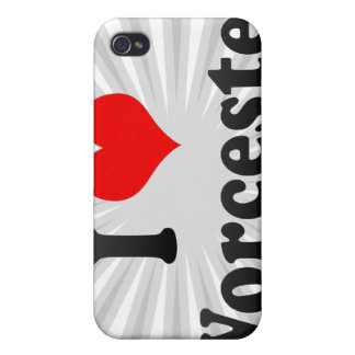 I Love Worcester United States iPhone 4 Cases
