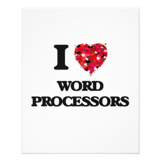 I love Word Processors 11.5 Cm X 14 Cm Flyer