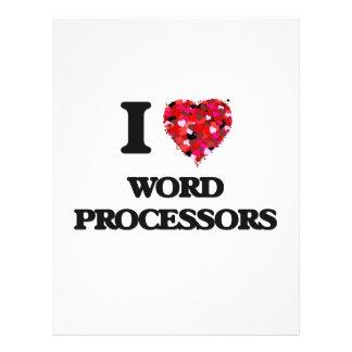 I love Word Processors 21.5 Cm X 28 Cm Flyer