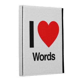 i love words iPad folio cover