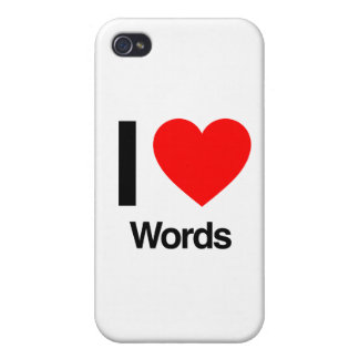 i love words iPhone 4 cover