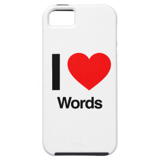 i love words iPhone 5 case