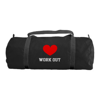 I Love work out duffle gym bag for sport