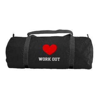 I Love work out gym bag
