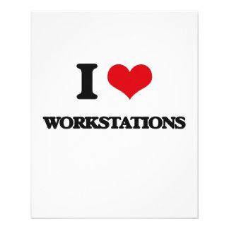 "I love Workstations 4.5"" X 5.6"" Flyer"