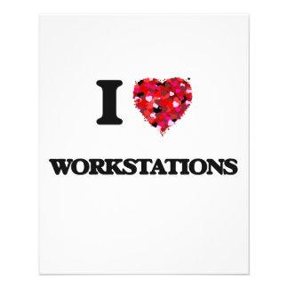 I love Workstations 11.5 Cm X 14 Cm Flyer