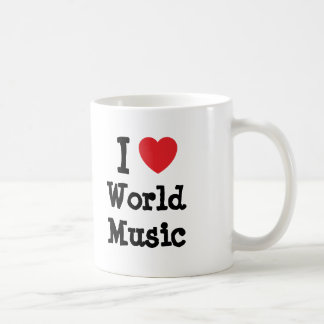 I love World Music heart custom personalized Mugs