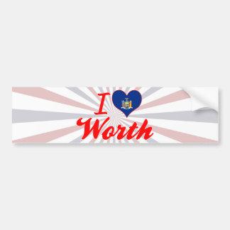 I Love Worth, New York Bumper Sticker
