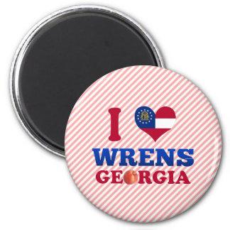 I Love Wrens, Georgia Fridge Magnet