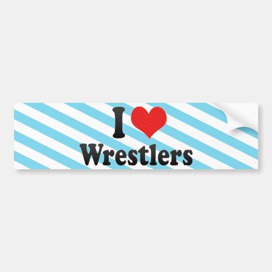 I Love Wrestlers Bumper Sticker