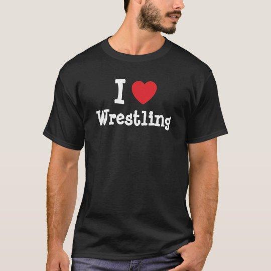 I love Wrestling heart custom personalised T-Shirt