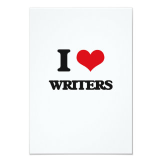 I love Writers Personalized Invitation