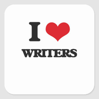 I love Writers Square Stickers