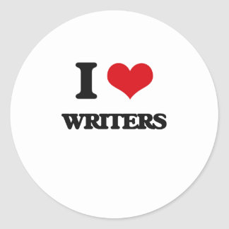 I love Writers Round Stickers
