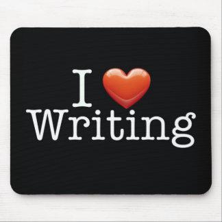 I Love Writing Black Mouse Pad