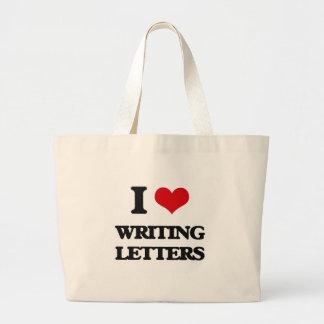 I love Writing Letters Jumbo Tote Bag