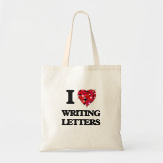 I love Writing Letters Budget Tote Bag