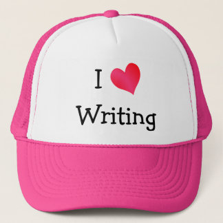 I Love Writing Trucker Hat