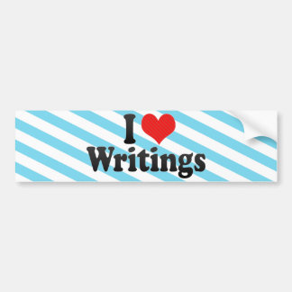 I Love Writings Bumper Sticker