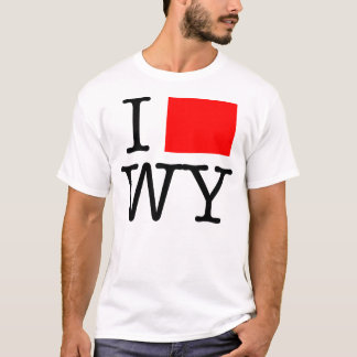 I Love WY Wyoming T-Shirt