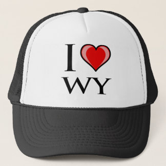 I Love WY - Wyoming Trucker Hat