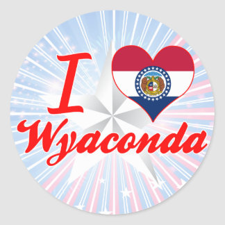 I Love Wyaconda, Missouri Round Stickers